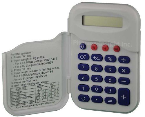 BMI calculator (Body Mass Index) compact metric and imperial