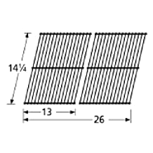 Music City Metals 54302 Porcelain Steel Wire Cooking Grid Replacement for Select Fiesta Gas Grill Models, Set of 2