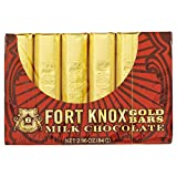 Fort Knox Mini Milk Chocolate Gold Bars, 2.96 Ounce  Pack of 72 Mini Bars