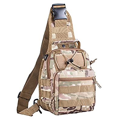 G4Free Outdoor Tactical Backpack,Military Sport Pack Shoulder Backpack for Camping, Hiking, Trekking,Rover Sling Pack Chest Pack