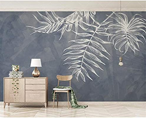 Gmyanbz Custom Any Size Wallpaper Modern Style Leaf Texture Bedroom Master Bedroom Bed Background Wall 3d Wallpaper 500cm W X300cm H Buy Online At Best Price In Uae Amazon Ae