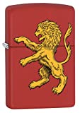 Zippo Lighter: Lion Crest - Red Matte 78309