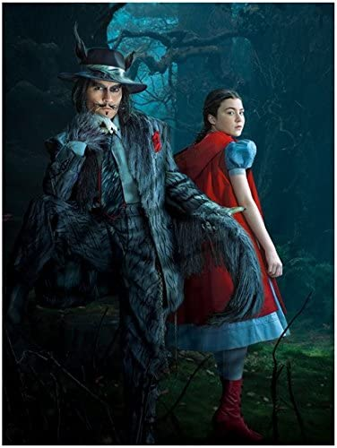 Lilla Crawford As Little Red Riding Hood Posing With Johnny Depp