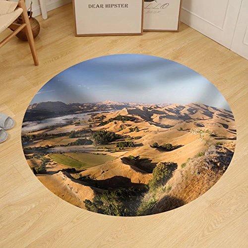 Gzhihine Custom round floor mat Landscape of Desert Hill with Oasis under - Stores Hill Desert Outlet