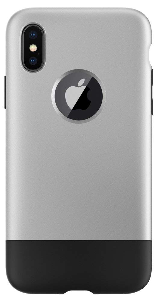 size 40 ad693 907c9 Spigen Classic One [10th Anniversary Limited Edition] iPhone X Case with  Air Cushion Technology for Apple iPhone X (2017) - Aluminum Gray (Renewed)