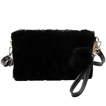 2a71f9ca39 Homeofying Fashion Fluffy Envelope Shape Thin Strap Women Shoulder Bag Coin  Purse Pouch Cross Body Bag