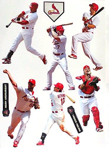 FATHEAD St. Louis Cardinals Team Set Official MLB Vinyl Wall Graphics 6 Players, 7