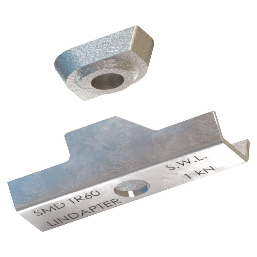 Lindapter TR6006 Type TR60 Decking Fixing with Locking Plate, Size M6 (Pack of 50) Lindapter International