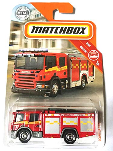 Matchbox 2019 MBX Rescue Scania P 360 (Fire Engine) 56/125, Red