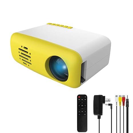 3T6B Mini Proyector para niños, Portátil Proyectors de Cine en Casa TFT LED LCD, Compatible con HDMI / AV / USB / Micro SD / TV Stick, para ...
