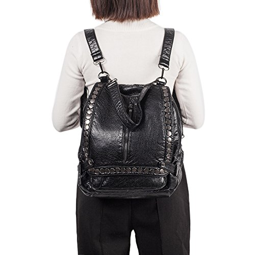 Genold , Sac à main porté au dos pour femme noir noir 3 moyen