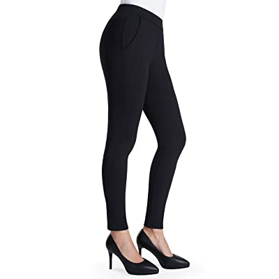 Balleay Art Women's Stretch Skinny Leg Dress Pants Workout Non See-Through Yoga Work Pants with Pockets at Amazon Women's Clothing store