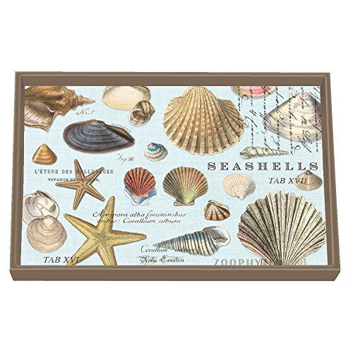 (Michel Design Works Vanity Decoupage Wooden Tray, Seashells)
