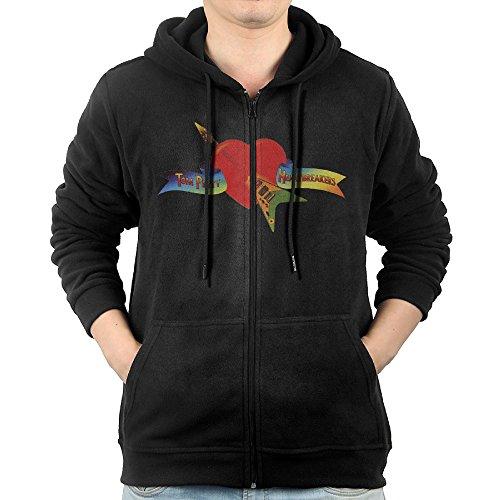 Tom Petty And The Heartbreakers Logo Full Zip Hoodie Mens