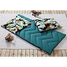 1pcs Sleepwear of Green Brown Cover Pillow Camo Indoor Outdoor Boys Camping Youth Sleeping Bag