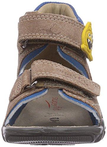 Superfit ROCKY - Zapatos primeros pasos de piel para niño marrón - Braun (ALMOND KOMBI 34)