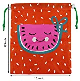 BeeGreen Party Favors Bags 10 Pack 5 Designs, Cartoon Gift Candy Drawstring Bags Pouch, Treat Goodie Bags For Kids Girls and Boys Birthday