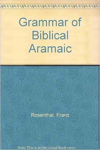 Book Grammar of Biblical Aramaic
