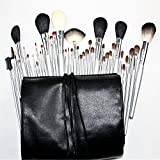 Pure Vie 40 Pcs Professional Cosmetic Makeup Brushes Set with Travel Pouch - Essential Make Up Tools Kit for Professional as well as Personal Use