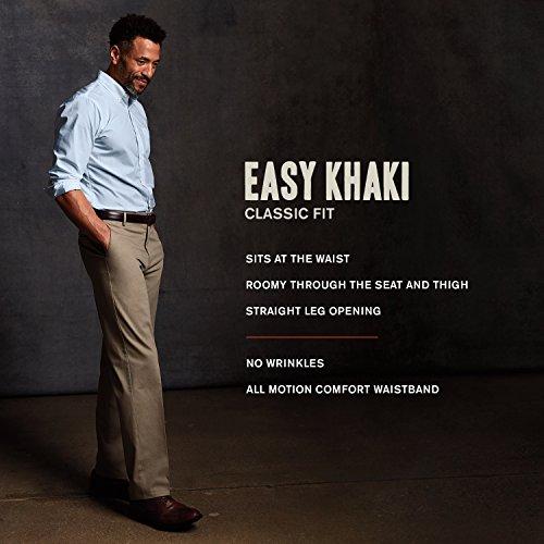 front stretch Dockers fit Khaki Men's Grey Easy Flat D3 Classic Burma Pant xRgZwq