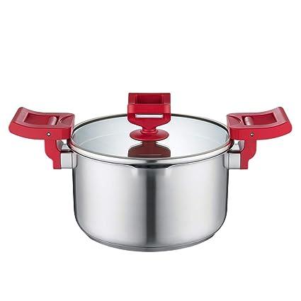 JT-Cookware Olla de Acero Inoxidable, Olla de Pollo Estofado de Carne Olla Seta