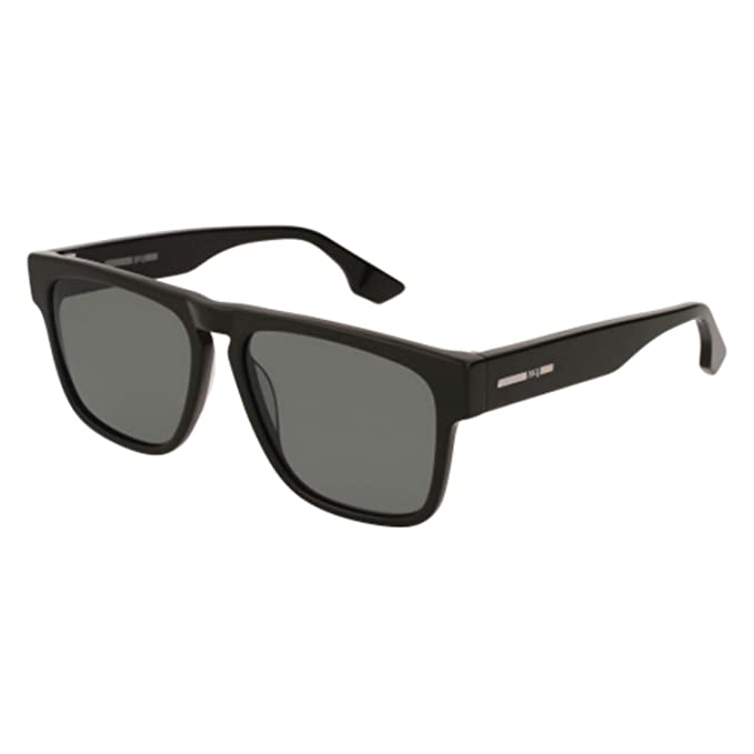 2b27dfdc616 McQ MQ0079S 001 Black MQ0079S Square Sunglasses Lens Category 3 Size 55mm   McQ  Amazon.ca  Clothing   Accessories