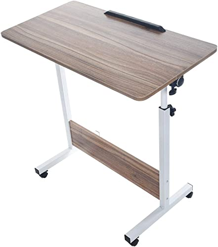 Binory Liftable Laptop Computer Desk Mobile Standing Desk Height Adjustable Table with Wheels,Multipurpose Home Study Reading Writing Desk Double Dinning Table Office Workstation,US Fast Shipment