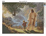 DIY 5D Diamond Painting Kit, NYEBS DIY Diamond Painting Religion Full Square Drill Jesus and Child Rhinestone Embroidery Arts Craft Supply for Wall Decoration 12X16 inches