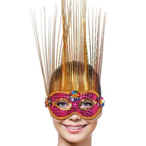 Mask Party Venetian Magenta/Gold Deluxe - Venetian Mask Deluxe