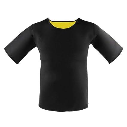 Backbayia Hombre Neopreno Camisa de Mangas Gimnasio ...