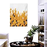Nature Art Stickers Sweet Honey Bees Wax Abstract Insect of Spring Season Artwork