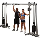 Body-Solid DELUXE CABLE CROSSOVER GDCC250 Functional Trainer Home Gym with Black Stacks