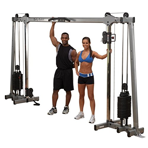 Crossover Kickback (Body-Solid DELUXE CABLE CROSSOVER GDCC250 Functional Trainer Home Gym with 210lb. Black Stacks)