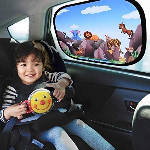 astarye Auto Sonnenblende Baby UV Schutz Auto Sonnenschutz Kinder Selbsthaftende Universal Autofenster Autoblende inkl Tasche 44 x 36 cm 2 St/ück