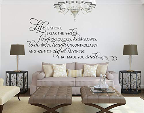 Cheap  Removable Vinyl Wall Stickers Act Mural Decal Art Home Decor Life is..
