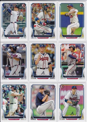 Atlanta Braves 2014 Bowman MLB Baseball Series Complete Mint 12 Card Hand Collated Team Set with Justin Upton Jason Heyward Plus