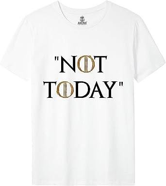 ARTIST Camiseta Not Today Arya Stark Juego de Tronos Season 8: Amazon.es: Ropa y accesorios