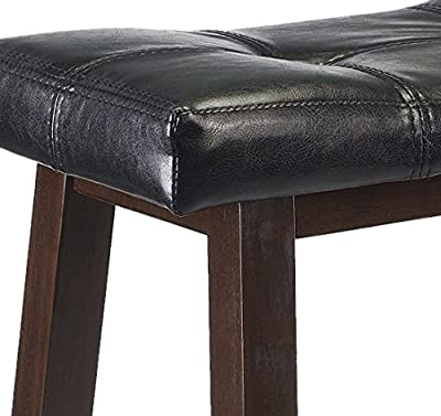 Winsome Mona 24-Inch Cushion Saddle Seat Stool