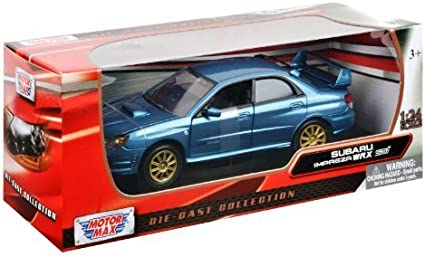 SUBARU IMPREZA WRX STi BLACK 1//24 DIECAST CAR MODEL BY MOTORMAX 73330