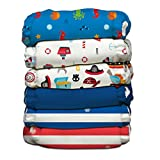 Charlie Banana 6 Piece Diapers with 12 Inserts Hybrid AIO, Ocean Flair
