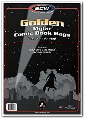 50) Golden Age 2 Mil Mylar bolsas de poliéster, diseño de ...
