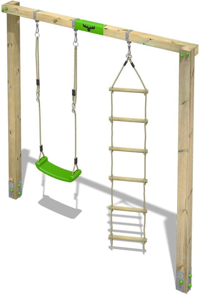 FATMOOSE DoubleBalan/çoire en bois JollyJane Style XXL Jeux de plein air pour enfants Jardin