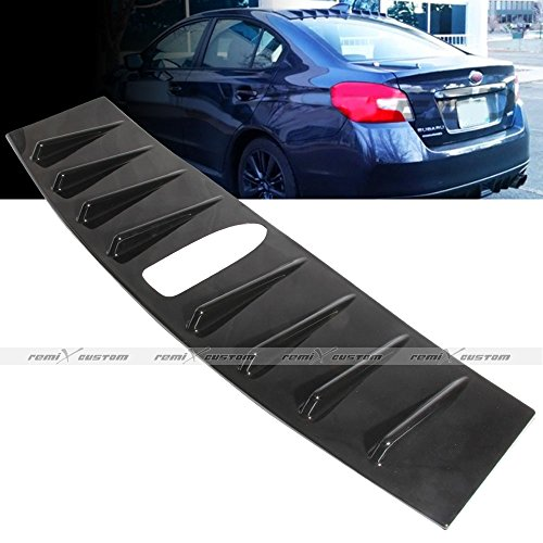 Remix Custom Roof Spoiler For 2015 2016 Subaru WRX/STI Vortex Generator Shark Fin Black Roof Spoiler Lip ()