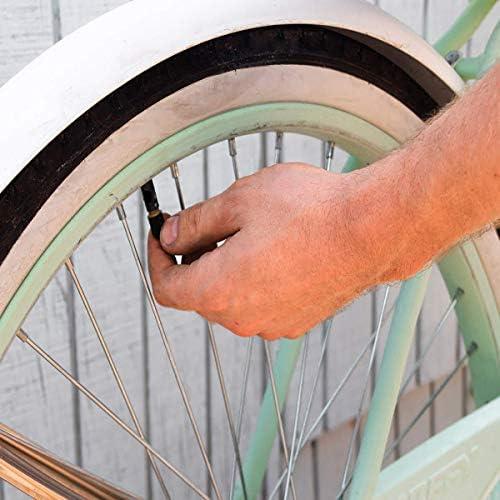タイヤバルブキャップ 車 バイク トラック 自転車 車輪 - 20個パック ブラック (ユニバーサルフィット) - 使い勝手の悪いシール
