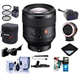 Sony FE 85mm F1.4 GM (G Master) E-Mount NEX Camera Lens - Bundle 77mm Filter Kit, FocusShifter DSLR Follow Focus, Peak Lens Changing Kit Adapter, Lens Case, Software Package More