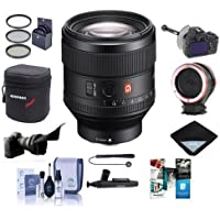 Sony FE 85mm F1.4 GM (G Master) E-Mount NEX Camera Lens - Bundle With 77mm Filter Kit, FocusShifter DSLR Follow Focus, Peak Lens Changing Kit Adapter, Lens Case, Software Package, And More
