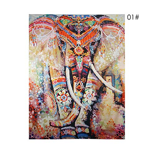 European Floral Tapestry Wall Hanging,Pesine Indian tapestries Decor Hippie Bohemian Flower Tapestry Wall Hanging Elephant Tapestry