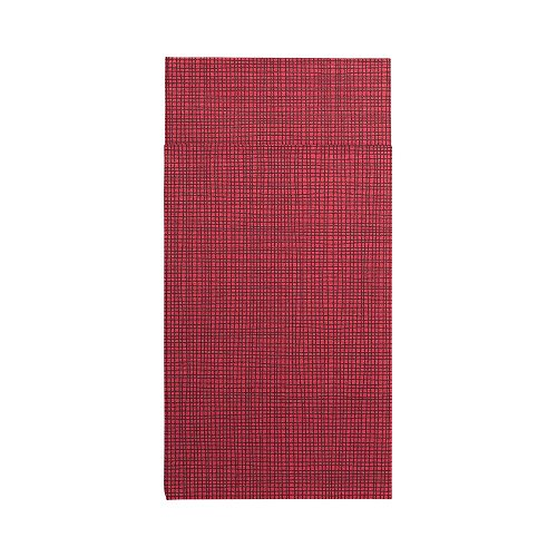 Luxenap Air Laid Kangaroo Dinner Napkins - Bordeaux with Black Threads - Soft and Durable 16