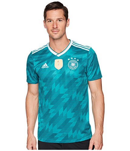 adidas Men's 2018 Germany Away Jersey EQT Green/White/Real Teal Large