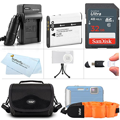 32GB Accessory Kit For Pentax Optio WG-3 WG-3 GPS, Ricoh WG-4 GPS WG-4 WG-30 WG-30W WG-5 GPS Digital Camera Includes 32GB High Speed SD Memory Card + Replacement D-LI92 Battery + Charger + Case + More